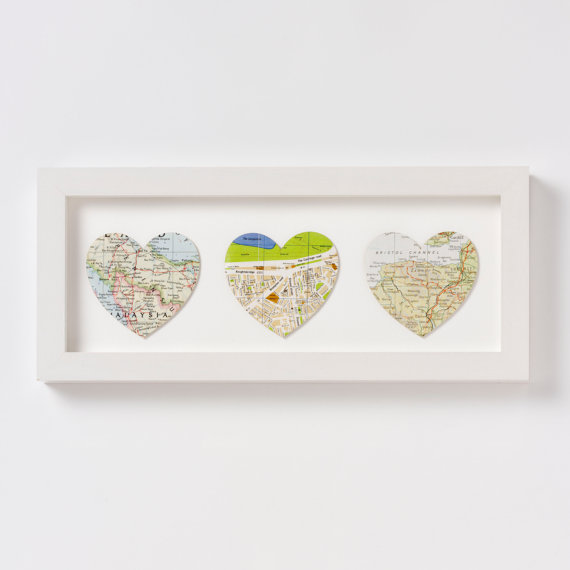Custom map artwork makes our heart thump for Valentine's Day