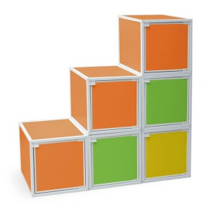 Colorful storage cubes for kids | Cool Mom Picks