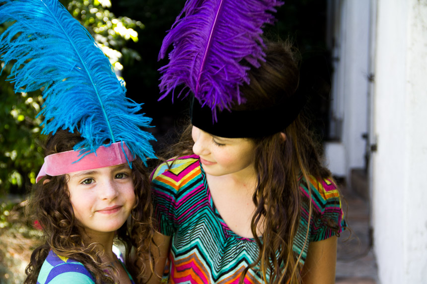 DIY feather headbands at Moon Frye | Cool Mom Picks