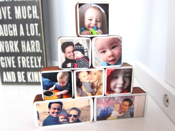 A custom photo gift for babies too young to make one themselves