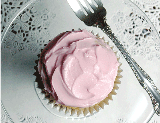 A Valentine's cupcake frosting recipe, hold the artificial colors