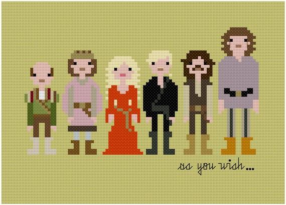 DIY cross-stitch patterns meet pop culture? Inconceivable.