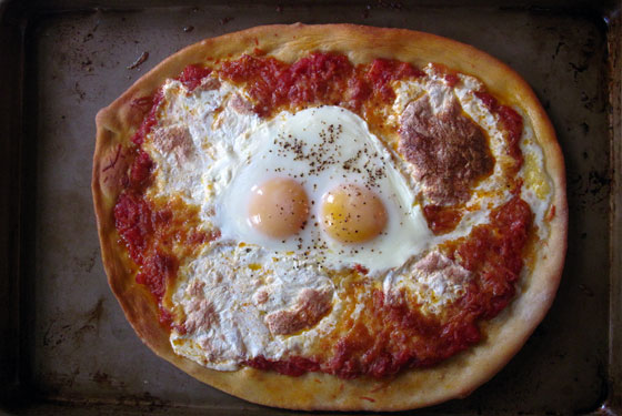 Pizza with a fried egg | Cool Mom Picks