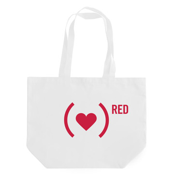 Project (RED) heart tote | Cool Mom Picks