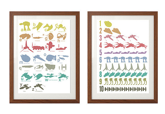 Star Wars alphabet and counting posters: Learn ABCs and 123s, you will.