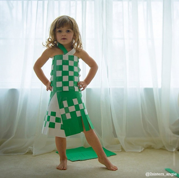 2sisters_angie paper dress on 4 year old | Cool Mom Picks
