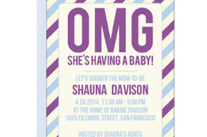 Cool baby shower invitations for parents not so into the traditional ones.