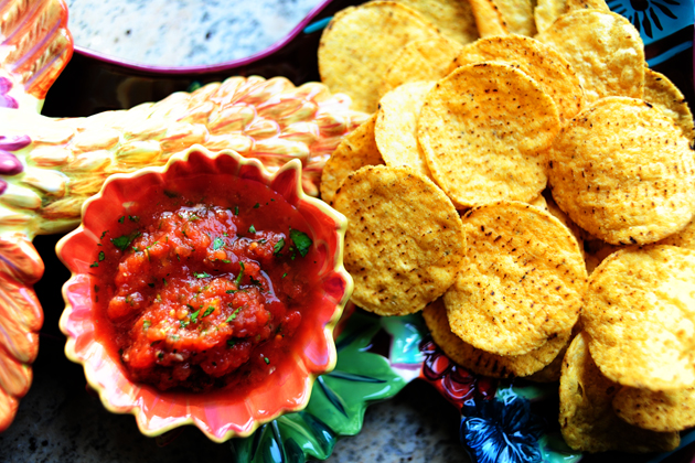 7 creative salsa recipes to celebrate National Tortilla Chip Day. (Yes there is such a thing and we're ready to fiesta.)