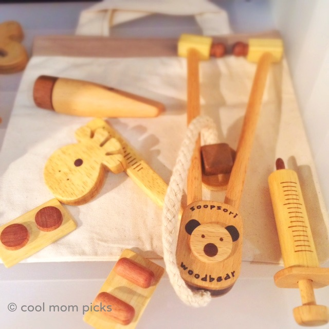 Stylish, fun wooden doctor's kits for your own little medic