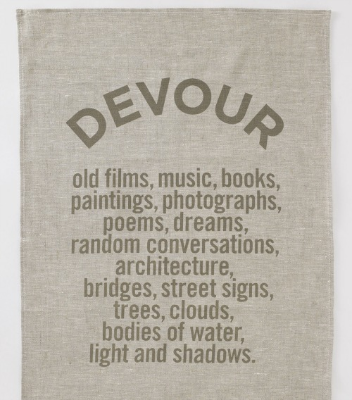 A tea towel that talks back.
