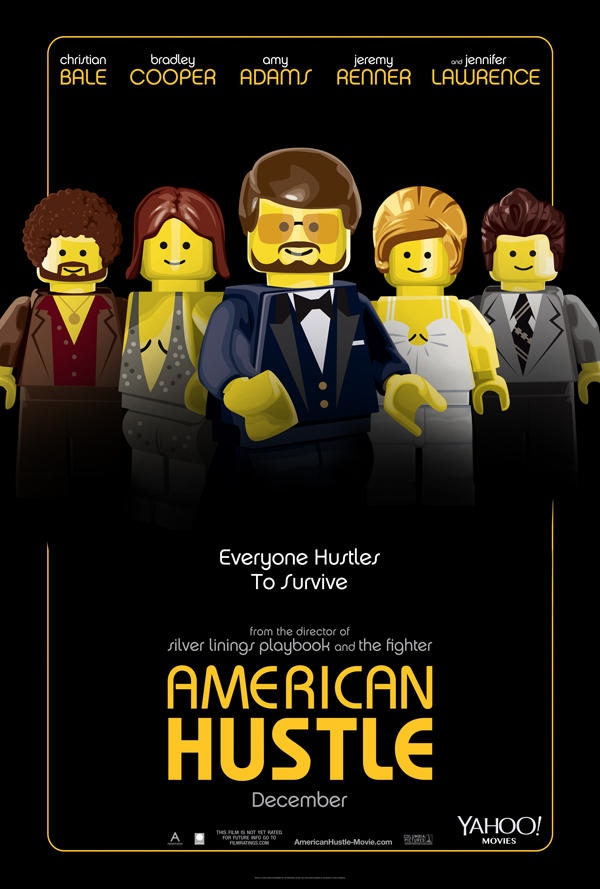 american hustle movie poster recreated with legos
