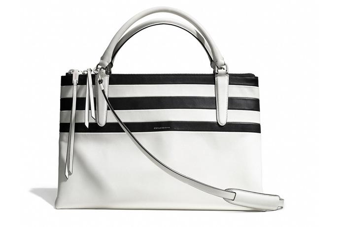 New Coach handbags: Striped Borough Bag | Cool Mom Picks