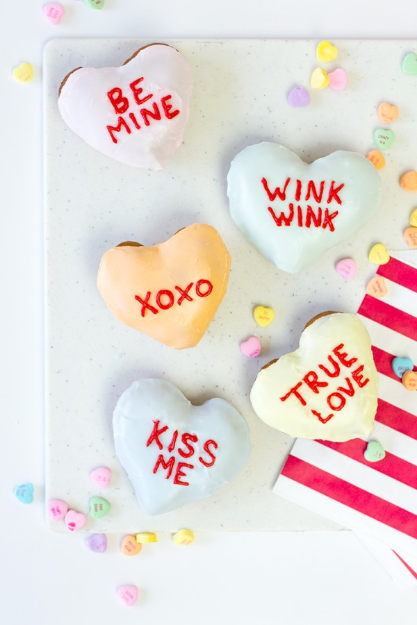 Conversation Hearts Donuts from Studio DIY | Cool Mom Picks