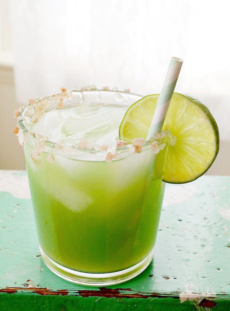 Cucumber Margarita Recipe at A Beautiful Mess   Cool Mom Picks