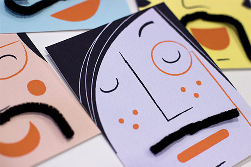 Mustache Cards by Doo Daa Studios | Cool Mom Picks