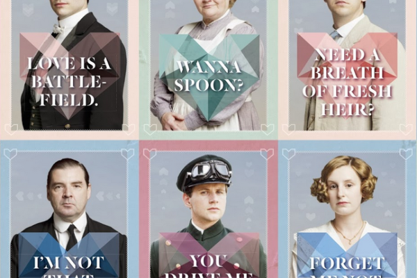 Printable Downton Abbey Valentines from Cobalt & Dash | Cool Mom Picks