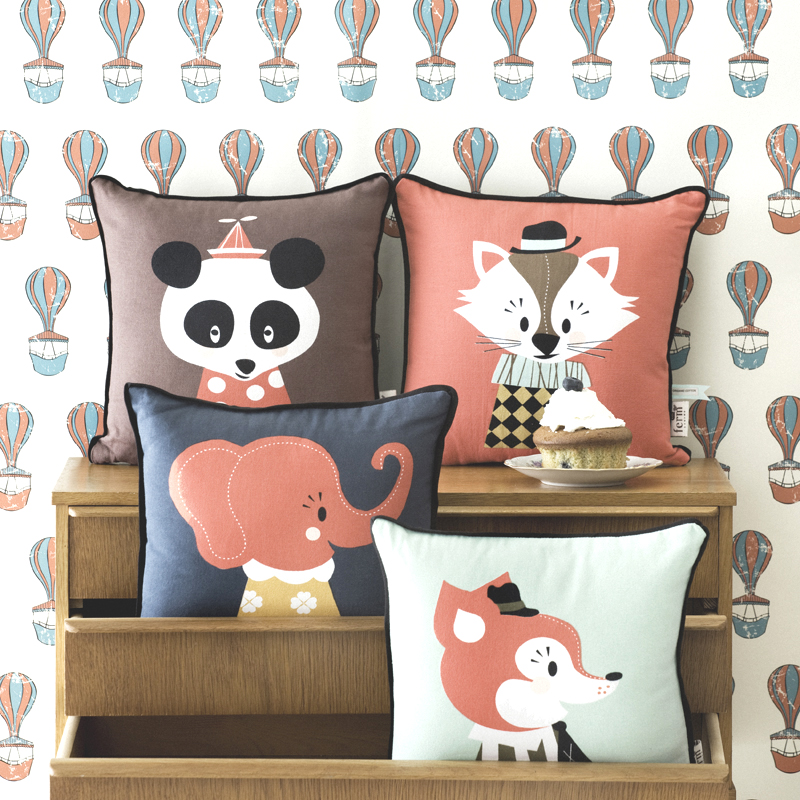 Cute animal pillows for your kids' rooms get way more funky. And we like it.