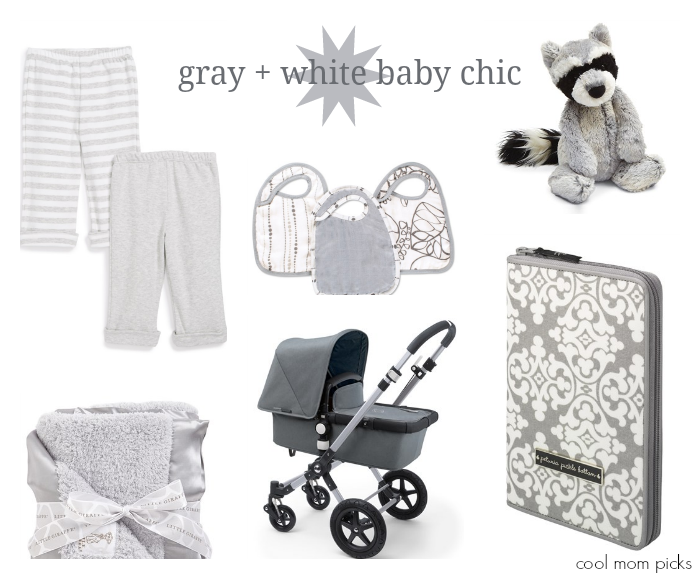 Gender neutral grey and white baby gifts | Cool Mom Picks