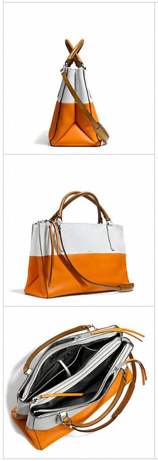 New Coach handbags: Borough in orange + white | Cool Mom Picks
