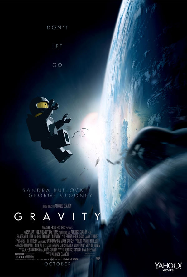 oscar movie poster gravity recreated with legos