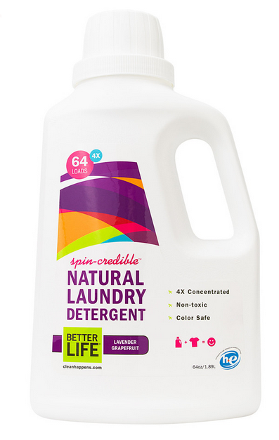 Natural laundry detergent from Better Life that's so amazing, we forgive the punny name.