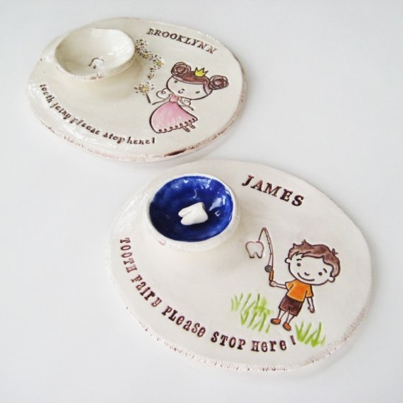 Handmade tooth fairy dishes from Brick Kiln | Cool Mom Picks