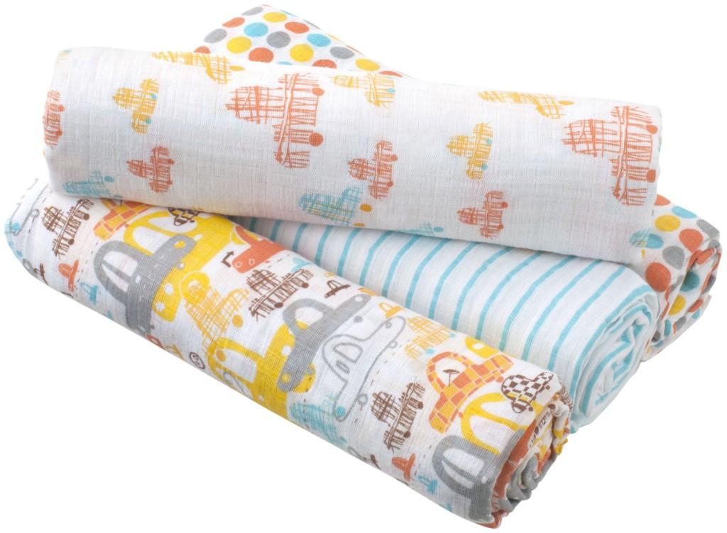Aden + Anais Zutano Swaddle Blanket 4 pack   Cool Mom Picks
