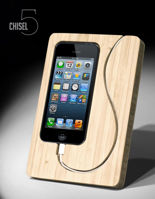 Spring clean your desk - Chisel iPhone 5 Dock   Cool Mom Picks