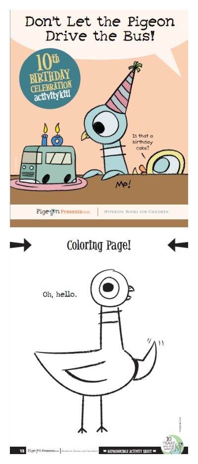 Mo Willems Pigeon Presents Free PDF Activity Book | Cool Mom Picks