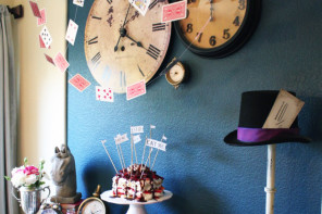 The best DIY Alice in Wonderland tea party ideas on a shoestring.