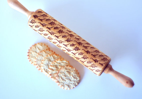 Embossed custom rolling pins: Mad tools for mad baking skills.