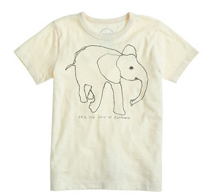 David Sheldrick Wildlife Trust kids tee - JCrew | Cool Mom Picks