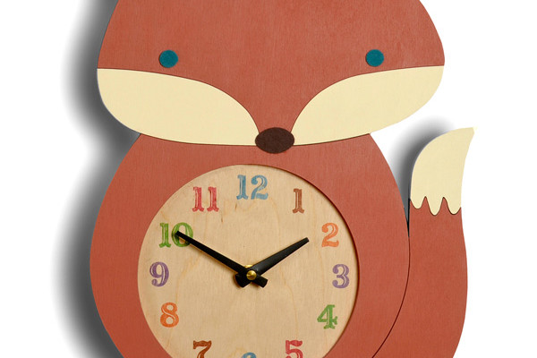 Animal clocks: Wooden fox - Tree by Kerri Lee | Cool Mom Picks