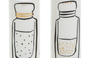 Salt and pepper shakers that let you invite Kate Spade to your dinner table