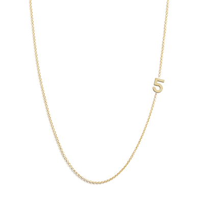 Personalized number jewelry from Julian & Co add up to perfect, times infinity.