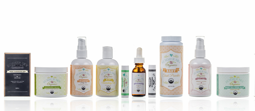 Terrific organic skin care for babies, moms, and women who used to be babies.
