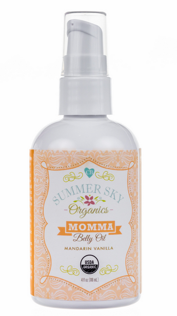 Organic skin care - Summer Sky Organics Belly Oil | Cool Mom Picks