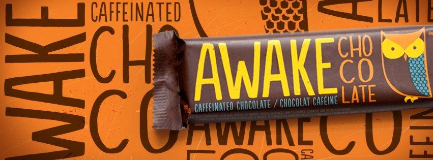 My new favorite product? Caffeinated chocolate. Caffeinated chocolate, people!