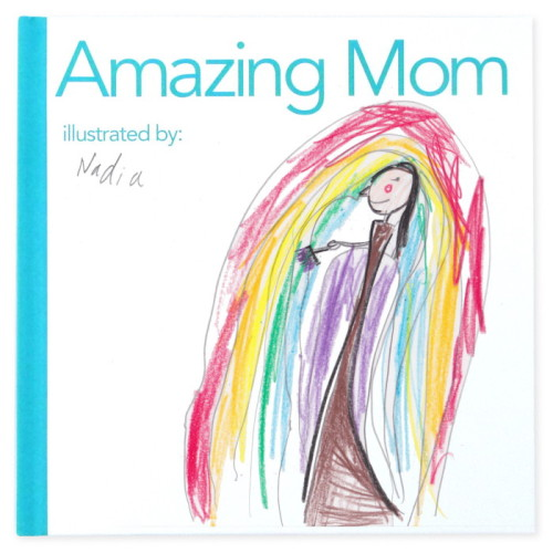 An awesome gift for mom from the kids: A book they draw themselves