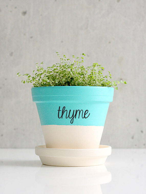 Herb labels - custom decals | Zesty Graphics on Etsy