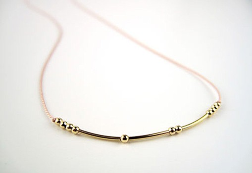 Unique personalized jewelry for moms: Say I love you in Morse code.