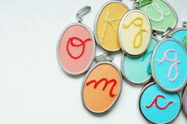 Merriweather Council personalized embroidered initial pendants