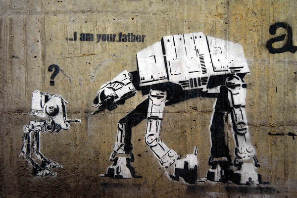 Banksy AT-AT canvas