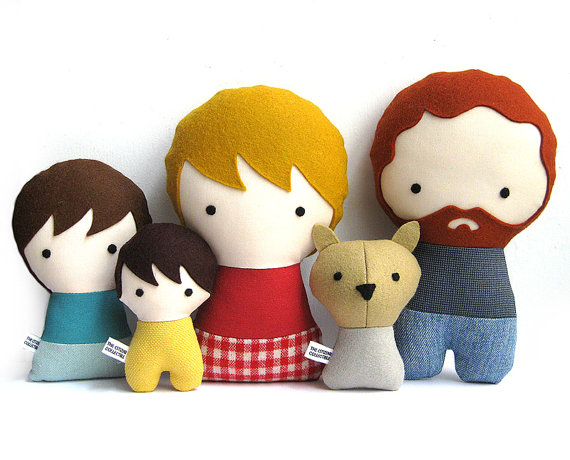 Cool custom family dolls, because everyone needs a mini-me. Or a mini-us.