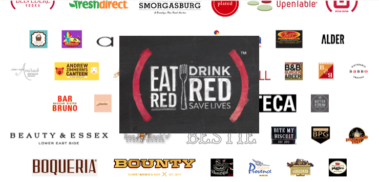 Eat out to #86AIDS with Project (RED), the best reason we've had not to cook in ages.