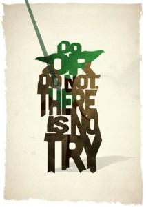 Star Wars Yoda typographic poster - Peter Ware