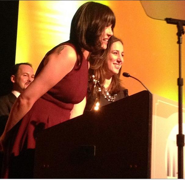 Kristen Chase, Liz Gumbinner of Cool Mom Picks at Iris Awards