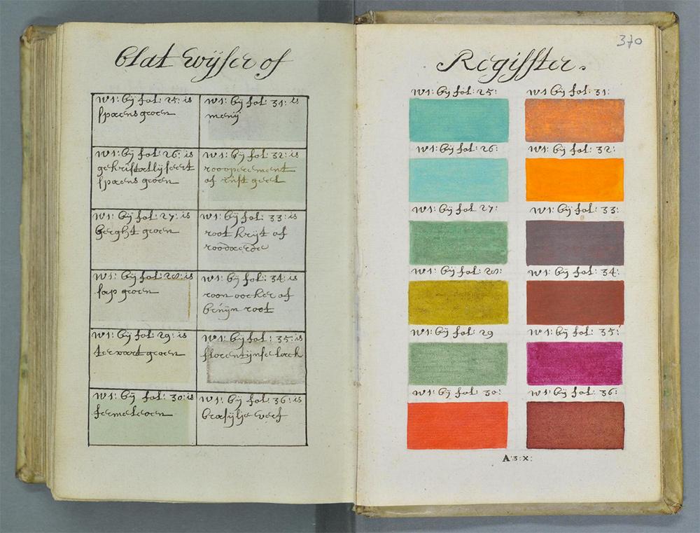 Medieval Pantone color swatch book   Cool Mom Picks