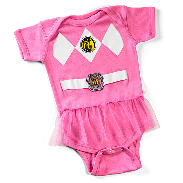 You need this Pink Power Ranger onesie, especially if the Terror Toad attacks.