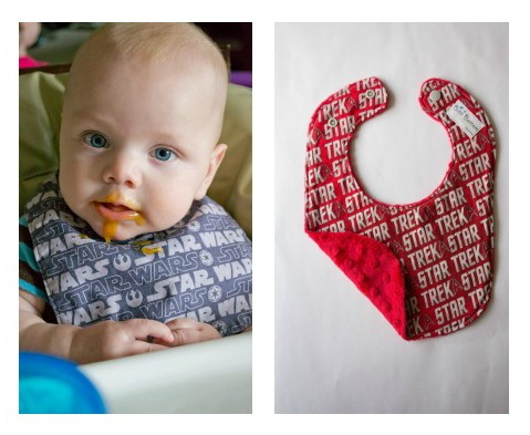 Spit-up stains? A Jedi suffers not this embarrassment, thanks to geeky baby bibs on Etsy.